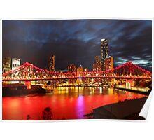 Brisbane by night Poster