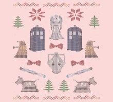 Ugly Doctor/Villain Christmas Sweater Kids Tee