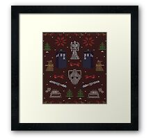 Ugly Doctor/Villain Christmas Sweater Framed Print