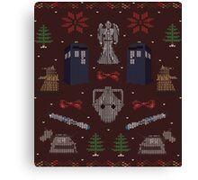 Ugly Doctor/Villain Christmas Sweater Canvas Print