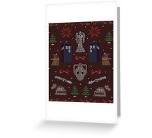 Ugly Doctor/Villain Christmas Sweater Greeting Card