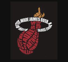 Miami Heat Logo with player names by bradsipek