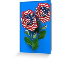 ✰* ★UNITED STATES PATRIOTIC ROSE PICTURE /CARD✰* ★ Greeting Card
