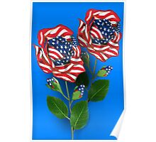 ✰* ★UNITED STATES PATRIOTIC ROSE PICTURE /CARD✰* ★ Poster