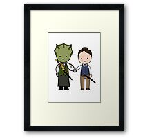 Vastra & Jenny Kawaii Cartoon Design Framed Print