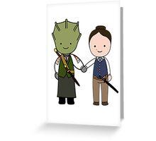 Vastra & Jenny Kawaii Cartoon Design Greeting Card