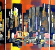 Manhattan NewYork Abstract Painting by Eraclis Aristidou