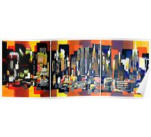 Manhattan NewYork Abstract Painting Poster