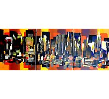 Manhattan NewYork Abstract Painting Photographic Print