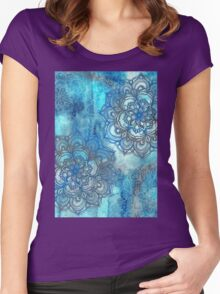Lost in Blue - a daydream made visible Women's Fitted Scoop T-Shirt