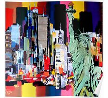 Statue of Liberty painting by Eraclis Aristidou Poster