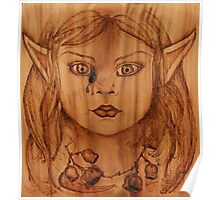 Pyrography: Gumnut Wood Nymph's Tear Poster