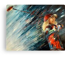 Miki Self-Portrait with Driver Canvas Print