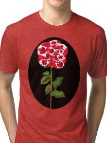 ✿♥‿♥✿CANADIAN PATRIOTIC ROSE TEE SHIRT✿♥‿♥✿ Tri-blend T-Shirt
