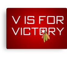 V is for Victory Canvas Print