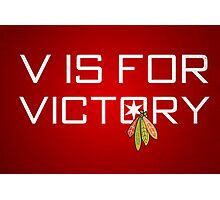 V is for Victory Photographic Print