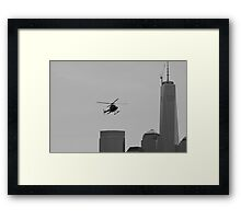 Tourist Helicopter  Framed Print