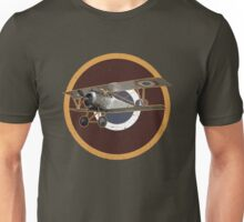 Vintage Look Nieuport fighter biplane on French Emblem Unisex T-Shirt