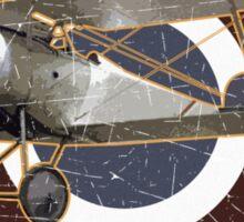 Vintage Look Nieuport fighter biplane on French Emblem Sticker