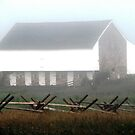 A Foggy Morning At McPherson's Barn, Gettysburg by AngieDavies