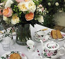"""Tea is Served in the Rose Garden, Madam"" by Irina Chuckowree"