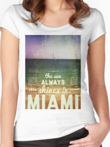 Miami Super Vintage Women's Fitted Scoop T-Shirt