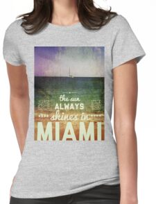 Miami Super Vintage Womens Fitted T-Shirt