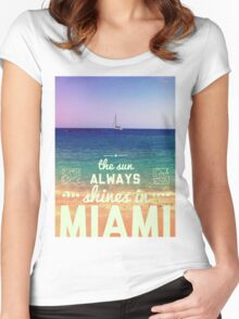 Miami Retro Women's Fitted Scoop T-Shirt