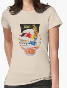 Vintage Fruit loops advertisement Womens Fitted T-Shirt