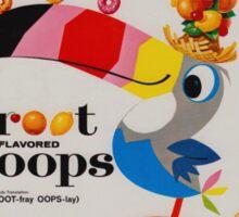 Vintage Fruit loops advertisement Sticker