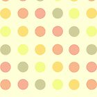 Vintage Polka Dots –Digital Art Pattern by WayfarerPrints