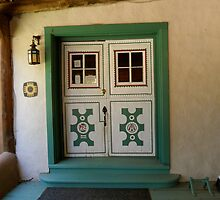 The Portal to Mabel Dodge Luhan's Adobe in Taos by Marielle O'Brien