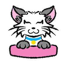 Happy Anime Cat Photographic Print