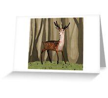 Deer in the Woods Greeting Card