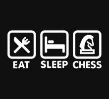 Eat - Sleep - Play chess One Piece - Short Sleeve
