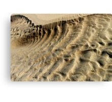 Sand Patterns Canvas Print