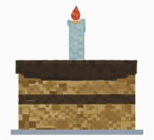 Minecraft Birthday Cake  One Piece - Short Sleeve