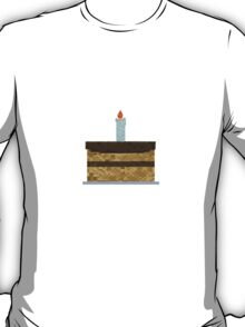 Minecraft Birthday Cake  T-Shirt