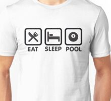 Eat, sleep, pool - pocket billiards Unisex T-Shirt