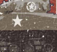Vintage Look Sherman Tank on Captain America Style Shield Sticker