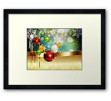 Colorful Background with Xmas Balls Framed Print