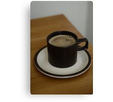 Coffee in a 1970s cup Canvas Print