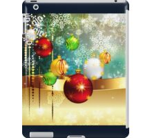 Colorful Background with Xmas Balls iPad Case/Skin