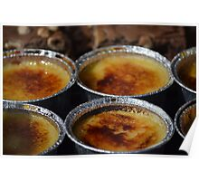 Creme Brulee in tin-foil cup Poster