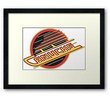 '90s Vancouver Canucks Framed Print
