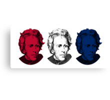 Andrew Jackson Red, White, and Blue Canvas Print