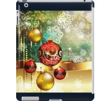 Colorful Background with Xmas Balls 2 iPad Case/Skin