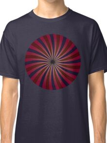 Blue and red swirl pattern Classic T-Shirt