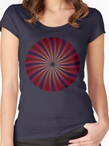 Blue and red swirl pattern Women's Fitted Scoop T-Shirt
