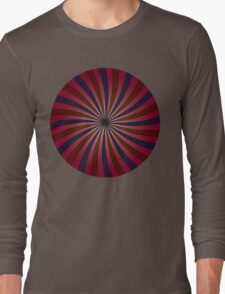 Blue and red swirl pattern Long Sleeve T-Shirt